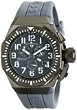 Swiss Legend Men's 10540-GM-014-WA Trimix Diver Chronograph Grey Dial Grey Silicone Watch