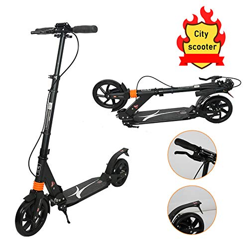 Adulto Vespa Mini, Adulto Vespa de aleación de Aluminio se pliegan hacia Abajo del Manillar Ajustable Scooters Suaves apretones de Manillar para Las Muchachas de los Adultos,Brake