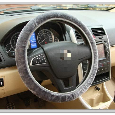 Car DIY Steering Wheel Cover Braid op het stuur Winter Warm zachte pluche Covers Auto-interieur accessoires (Color : D, Size : Free)