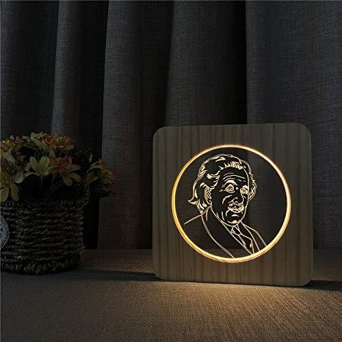 Albert Einstein Der Wissenschaftler 3D LED Arylic Holz Nachtlampe Tisch Lichtsteuerung Schnitzlampe Kinderzimmer Dekoration