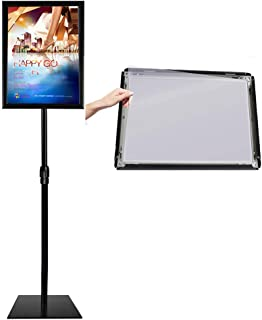 Heavy Duty Pedestal Sign Stands with Poster Frame Multi-Angle Display Holder Heavier Base Stand Up Signs (11x17inches)