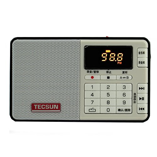 TECSUN Q3 FM Stereo Radio Recorder/MP3 Player Pocket Size (F