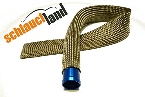 1m Kevlar Titan Hitzeschutzschlauch ID 10mm *** Heat Sleeve Thermoschutz Isolierschlauch Kabelschutz