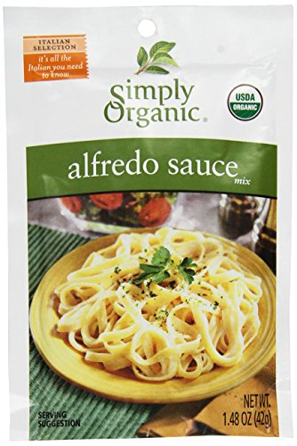 Simply Organic Alfredo Sauce Mix, 12 Packets, 1.48 oz (42 g) Each