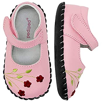 pediped Originals Caroline Crib Shoe  Infant ,Pink,Small  6-12 Months