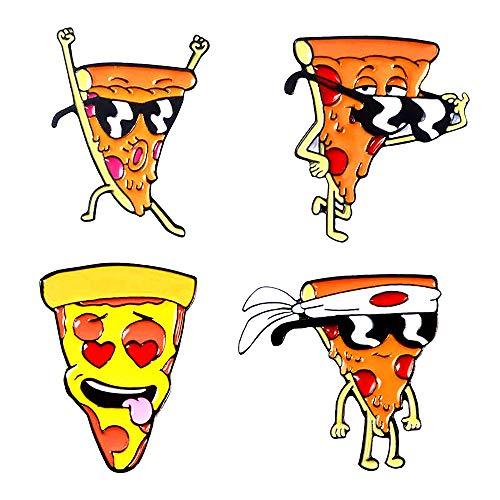 GYAYU Cute Cartoon Brooch Pins Enamel Brooches Lapel Pins Badge for Women Girls Children for Clothing Bag Decor (Funny pizza)