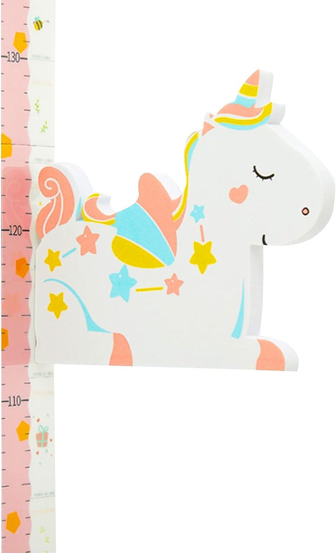 Tomedeks Altímetro Para Niños, Tabla De Altura De Regla Decorativa Para Bebés, Indicador De Altura De Animal Pequeño Móvil 3d, Rango De Medición 65-185 Cm (unicornio)