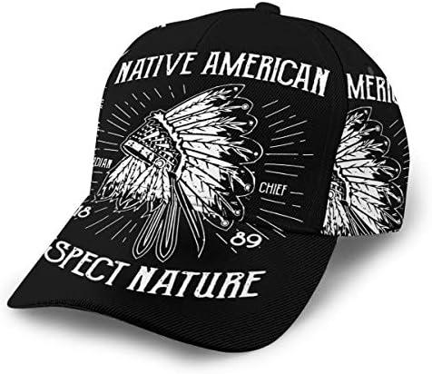 N/_A Dark American Flag Skull Unisex Adjustable Hip Hop Baseball Cap Dad Cap