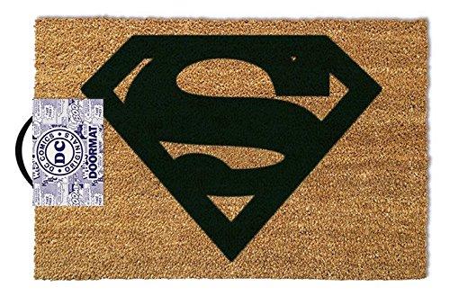 Pyramid International Felpudo con El Símbolo De Superman, Coco, Marrón, 40 x 60 cm