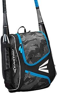 EASTON E110YBP Youth Bat & Equipment Backpack Bag, 2021, Baseball Softball, 2 Bat Sleeves, Smart Gear Storage, Valuables Pocket, Rubberized Zipper Pulls & Fence Hook for Dugout Functionality