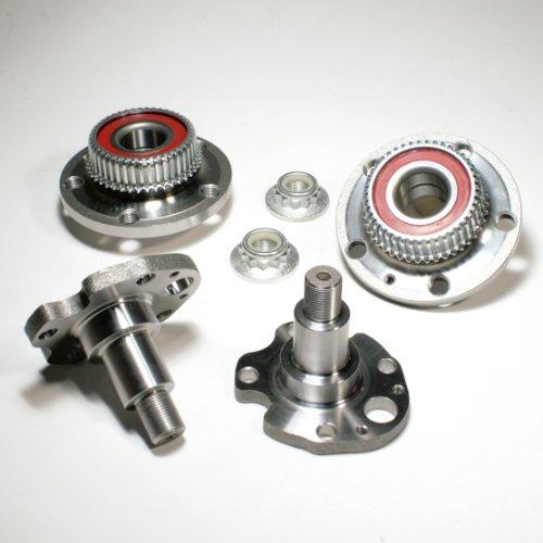 2 x Radnabe/Radlagersatz mit ABS-Sensorring + 2 x Achszapfen hinten
