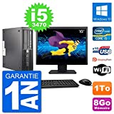 HP PC Workstation Z220 SFF Ecran 19in i5-3470 RAM 8Go Disque 1To Windows 10 WiFi...