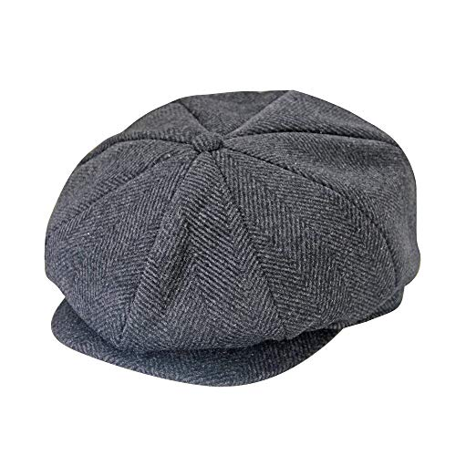jerague Wool Newsboy Cap for Men Women Classic Vintage Gatsby Lvy Cabbie Hat Flat Beret Cap Adjustable