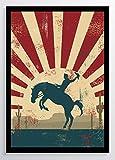 Plakat Texas Cowboy Kunstdruck Poster ungerahmt Bild DIN A4