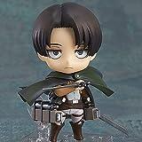 CDCNB Figura De Anime Attack On Titan: Levi · Ackerman Nendoroid Figura De Acción Personajes De Anime Estatua Modelo Muñeca Juguete Decoración De Escritorio Coleccionables para Fanáticos del Anime