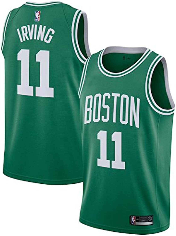 POLADDT Men's Boston Irving  11 Green Swingman Jersey  Icon Edition
