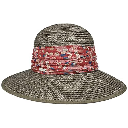 Seeberger Sombrero de Paja Marile Verano Mujer (Talla única - Verde Oliva)
