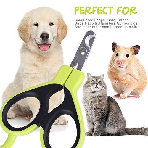 SZMYLED Haustier-Nagelknipser für kleine Tiere, Haustier-Nagelschere Krallenzange für Katzen, Hunde, Kaninchen, Hamster, Vogelpflege-Werkzeug, Haustier-Klauenbehandlung, rosa