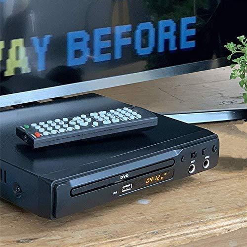 ZHENGZEQU DVD Región DVD Player Gratuito HDMI RCA Euroconector USB DVD Dos Puertos de CIM en Varios Idiomas LED DVD