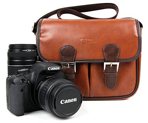 DURAGADGET Borsa Unisex per Canon EOS 1300D   Rebel T6   700D   750D   100D   80D   6D   M3   400D   1200D - con Tracolla Regolabile - Design Vintage