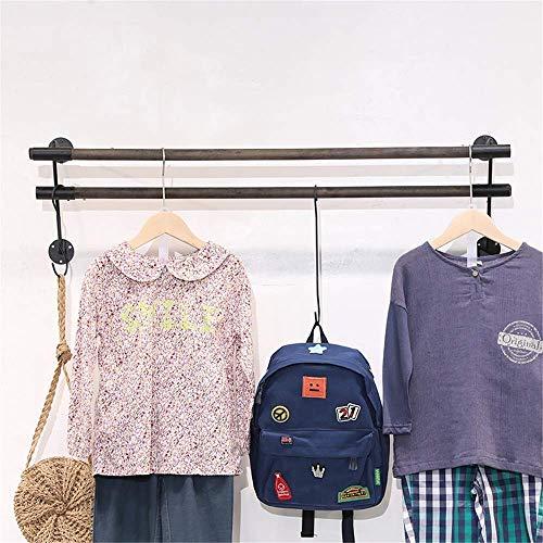 8BAYFA garderobestang van ijzer, nostalgisch, retrostijl, wandhaken, garderobehaken 120 cm, bruin