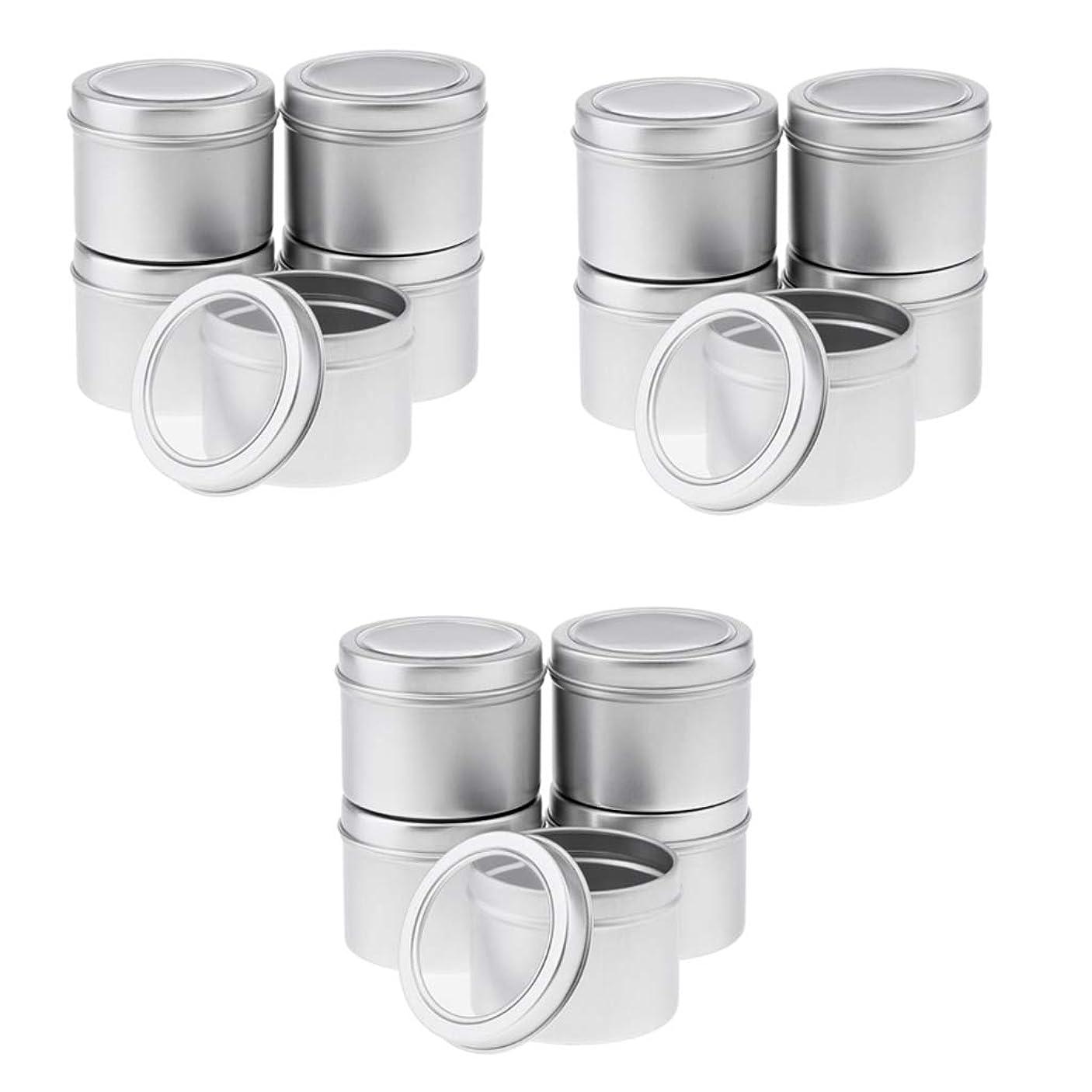 マウスピース相互接続公T TOOYFUL 15個入 パーツボックス アルミ缶 ジュエリー収納 小分け容器 詰め替え 空き缶 ジュエリー 小物入れ