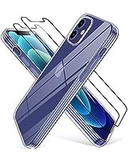 Wiselead Cover per iPhone 12, Cover per iPhone 12 PRO - Trasparente 6.1 Pollici