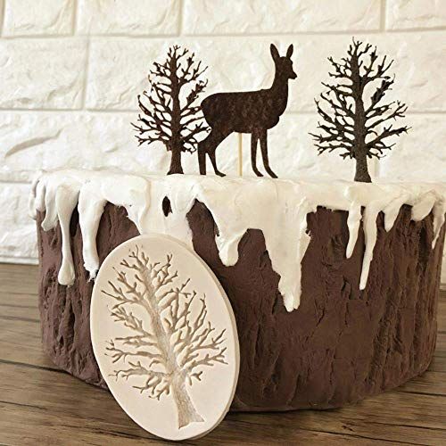 Backwerkzeuge 3D-Baumform Geprägte Silikonform Kuchen Dekorieren Küchenwerkzeuge Schokoladenfondant Maulwurf Backkuchen Schablone