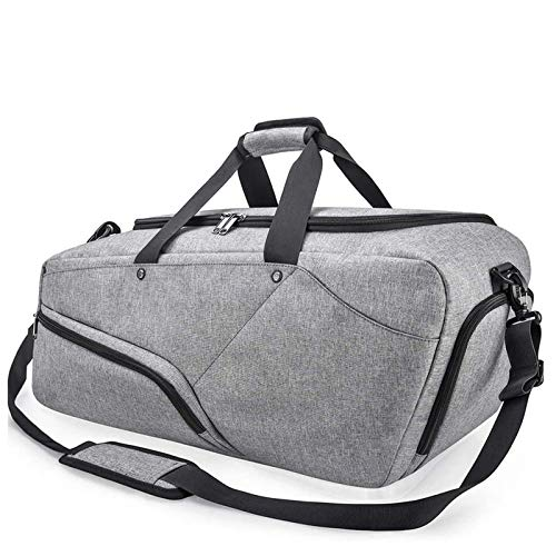 AOO Large Gym Bag with Shoe Compartment Waterproof Large Travel Holdall Bags Weekend Bag for Men and Women 45 L,B