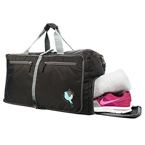 Borsone pieghevole da viaggio, sport, palestra, bagaglio a mano in aereo, da43 l, leggero, con scomparto scarpe per uomo, donna, ragazze e ragazzi Borsone pronto all'uso.