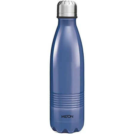 Milton Thermosteel Duo DLX 350ml Insulated Steel Bottle - Blue