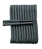 FootGalaxy Round Laces for Boots and Shoes, 45, Grey
