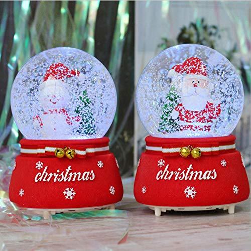 Gyjcd Twee Kinderen Cadeau Klokken Kerst Sneeuw Kristallen Bol Muziekdoos Muziekdoos Vakantie Herdenkingsornamenten