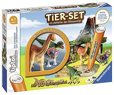 Ravensburger Interaktives Tier-Set mit drei Ravensburger tiptoi Dinosauriern