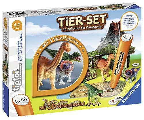 Ravensburger tiptoi Tier-Set Im Zeitalter der Dinosaurier Spiel, ab 4 Jahren, Interaktives Tier-Set mit drei Ravensburger tiptoi Dinosauriern