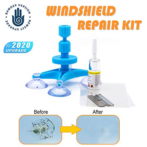 【NEW VERSION】Windshield Repair Kit,Newest Generation Car Windshield Repair Tools with Windshield Repair Resin for Auto Glass Windshield Crack Chip Scratch, Chips, Cracks, Bulll's-Eyes and Stars