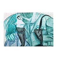 パズルcouple of lovers illustration 500ピース 木製パズルミニ 大人の減圧 絶妙な誕生日プレゼント
