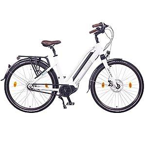 """NCM Milano Max N8R Bicicletta elettrica da Trekking,28"""" Bicicletta da Città, 250W Motore Centrale, Batteria 36V 16Ah 576Wh (Milano Max)"""