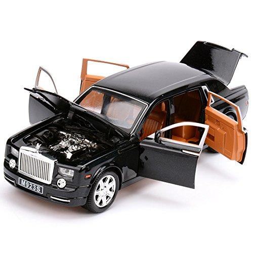 XLG 高級車 ロールスロイス ファントム ミニカー 1/28 Rolls Royce Phantom ダイキャスト製 (ブラック) [並行輸入品]