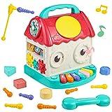 Giocattoli Musicale per Bambino 4 in 1 Cubo delle attività Giochi per Bambini Educativi Regali Bambino Bambina 1 2 3 Anni