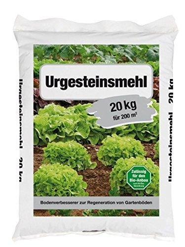 Urgesteinsmehl Bodenverbesserer Bodenhilfsstoff 20 kg für ca. 200 m²