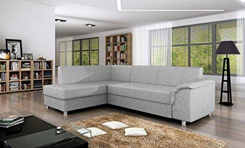 Ecksofa BARDOT mit Schlaffunktion Sofa Couch Schlafsofa Polsterecke Bettfunktion (ottomane links)