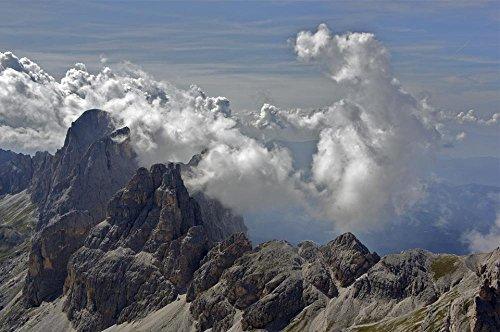 LAMINATED 36x24 Poster: Dolomites Alpine Panorama Mountain