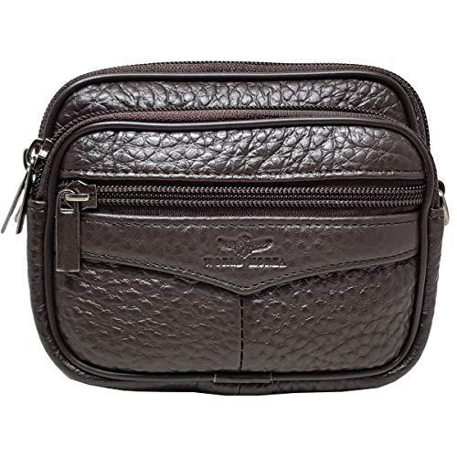Kleine Tasche Hüfttasche Messenger Bag Tactical Handy Tasche Hüfttasche Reisetasche Hüllen Satteltasche, Classic, Small, Dark Brown H11