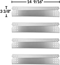 GASPRO Grill Flame Tamers for Nexgrill 720-0783E, 720-0830H, 720-0882A, 720-0896, 720-0896B, Grillmaster 720-0697, 4 PCS 14 9/16 inch Stainless Steel Heat Plate Shields Replacement Parts