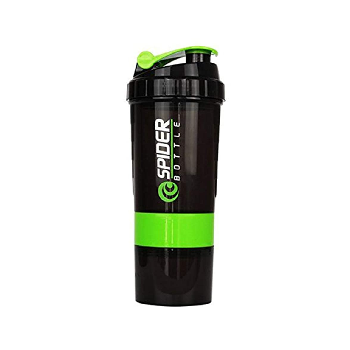 喉が渇いた生きる飢えSimg プロテインシェイカー 650ml シェーカーボトル プラスチック 目盛り ジム ダイエット スポーツ (グリーン)