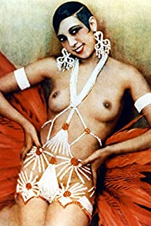 Josephine Baker 24x18 Poster Sexy Topless Pose Iconic Smiling