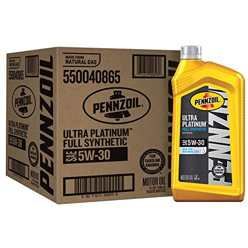 Pennzoil Ultra Platinum Full Synthetic 5W-30 Motor Oil (1-Quart, Case of 6) (550040865-6PK)