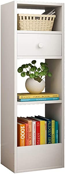 Bookcase White 4 Layer Open Bookcase Multi Purpose Display Stand For Use In The Living Room Office Stand Up Bookcase Color White Size 302590cm