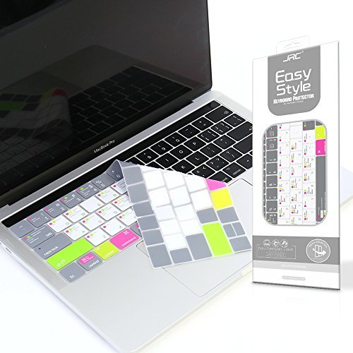 VFENG Premium Shortcuts with MAC OS Keyboard Cover for MacBook Pro with Touch Bar 13 Inch and 15...